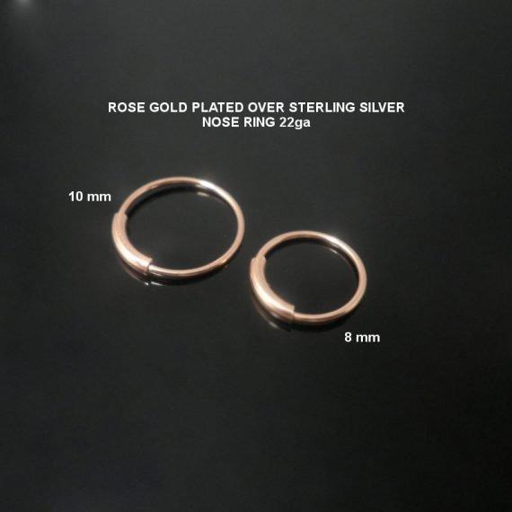 טבעת ספטום מצופה זהב אדום