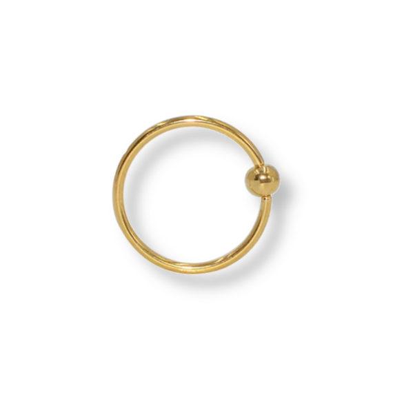 עגיל-נזם-חישוק-זהב-עם-כדור