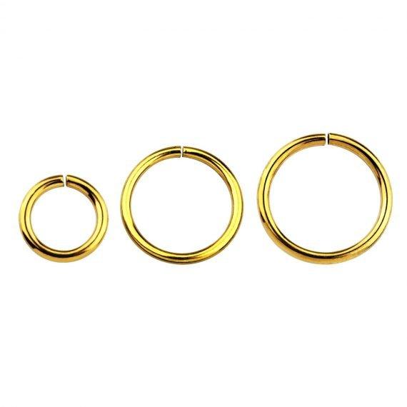 פירסינג טבעת זהוב