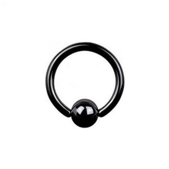 טבעת לחץ שחורה מטיטניום