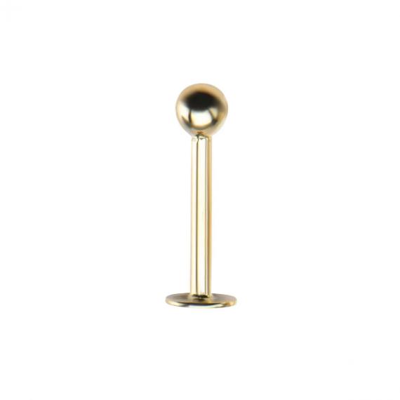עגיל לברט זהב 3 ממ כדור