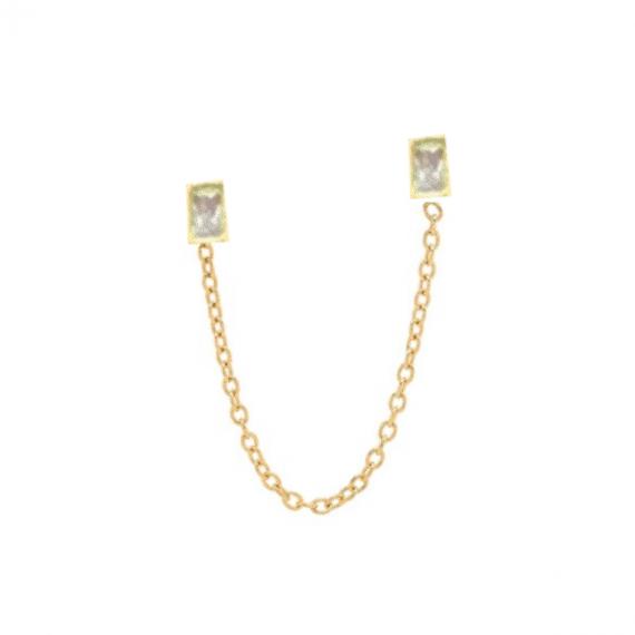 סט-עגילים-לחור-שני-שרשרת-זהב